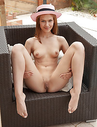 Laina bares her slender body and meaty ass as she strips by the pool.met art anatali
