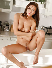 Sultry Michaela Isizzu bares her lusty body as she strips in the kitchen.met contemporary art