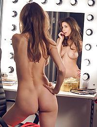 Top model Mila Azul strips in the dressing room as she bares her amazing body.met art charlene